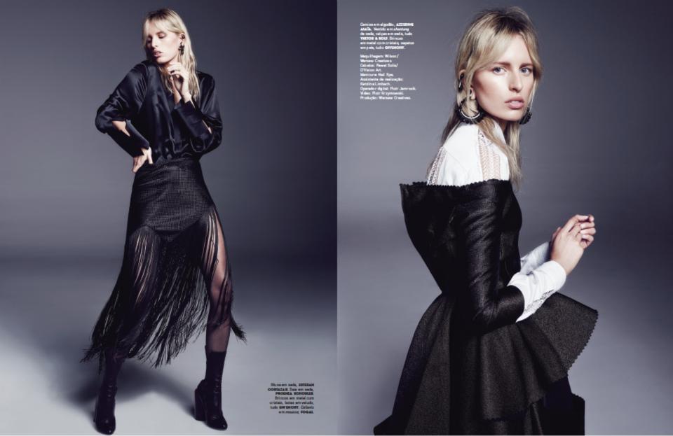 "Marcin Tyszka i Karolina Kurkova dla ""Vogue Portugal"""