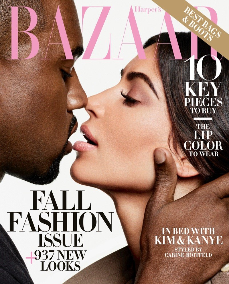 """Kim i Kanye w obiektywie Karla Lagerfelda dla """"Harper's Bazaar US"""""""