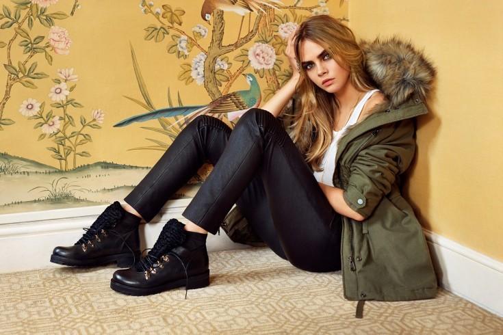 Cara Delevigne w kampanii Topshop jesień-zima 2014