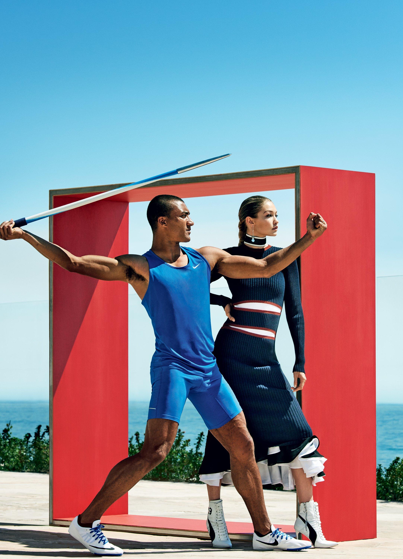 "Gigi Hadid i Ashton Eaton w sesji dla amerykańskiego ""Vogue'a"""