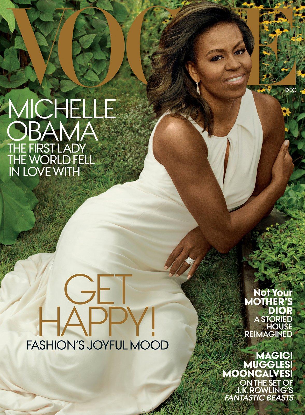 """Ostatnia okładka """"Vogue'a"""" z Michelle Obamą w roli Pierwszej Damy. I wyjątkowy wywiad"""