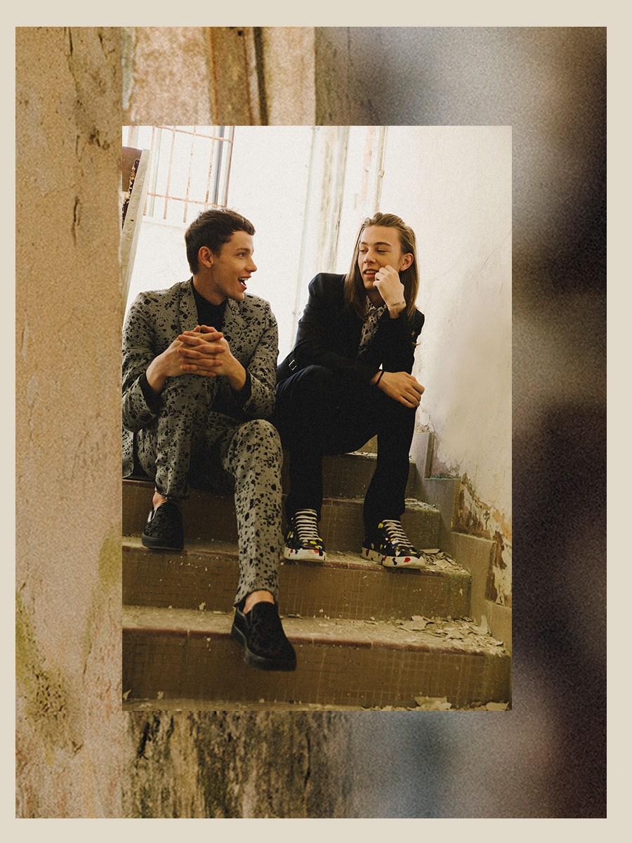 Męskie trampki z metką Dior