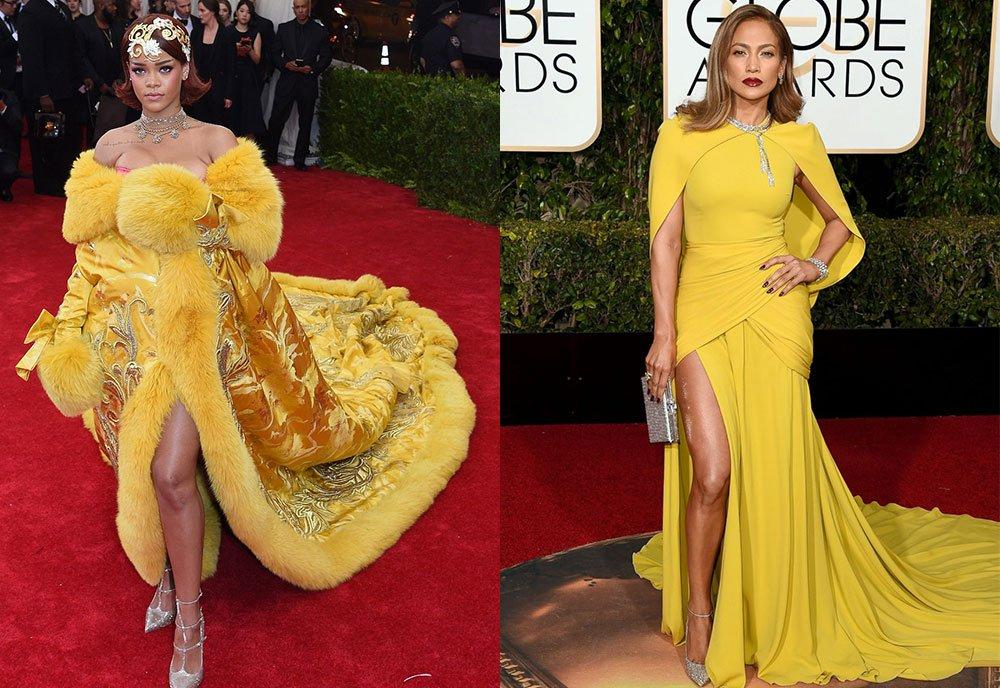 10 momentów, w których Rihanna i J.Lo wyglądały prawie tak samo