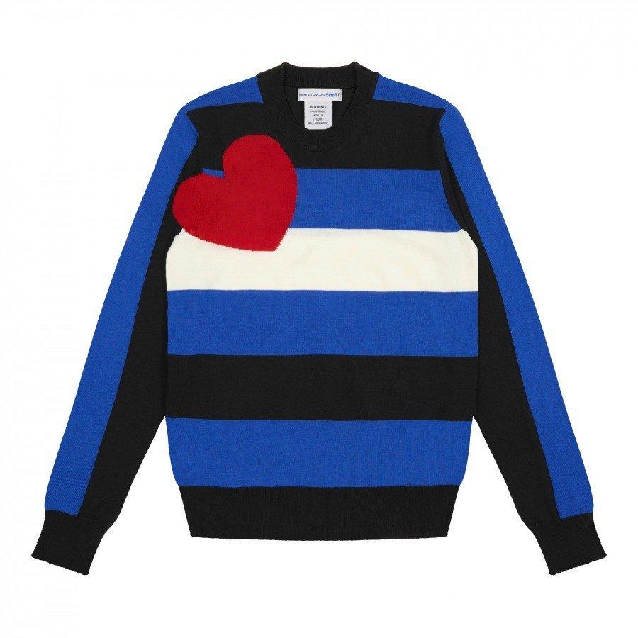 Tęczowe swetry od Comme des Garçons i Vetements