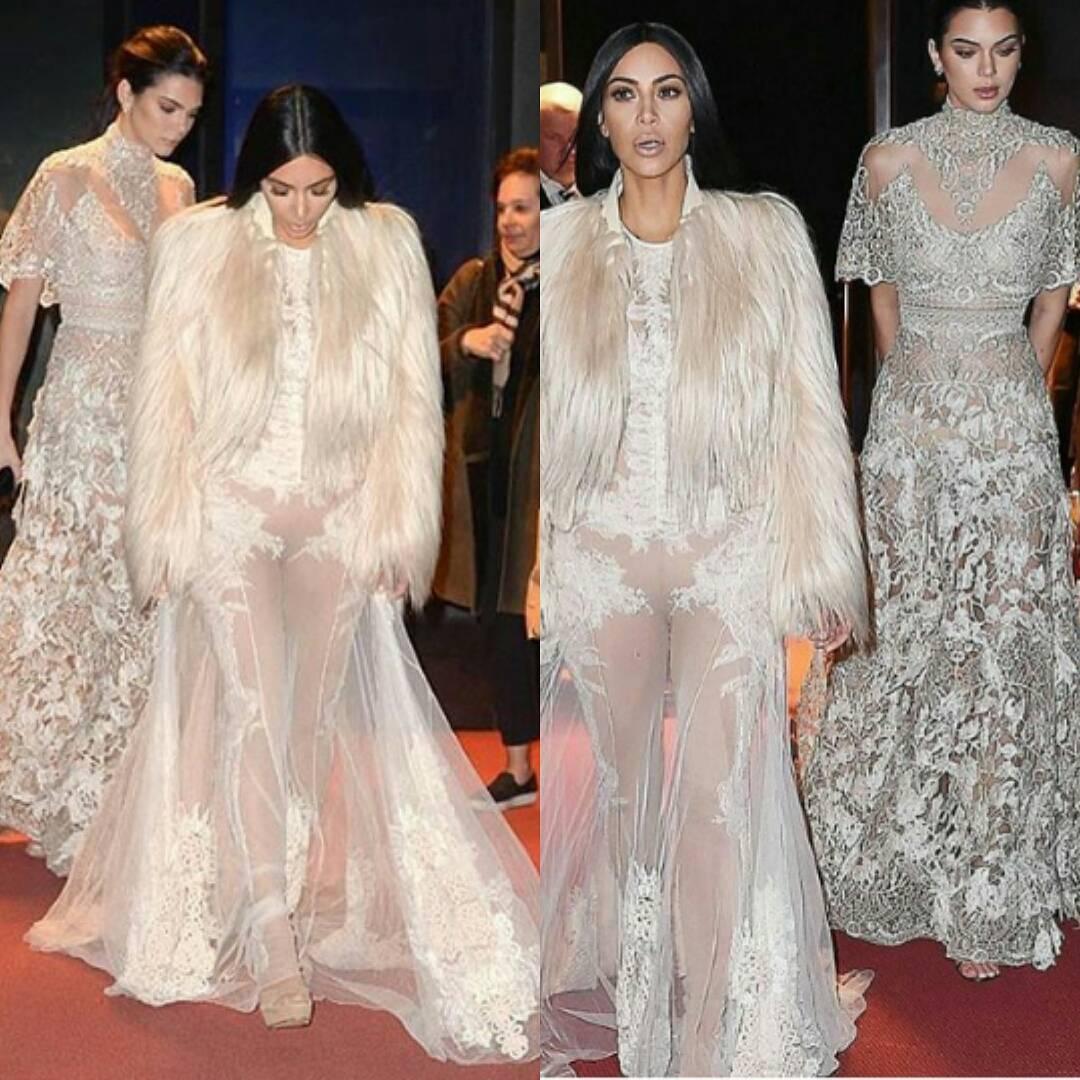 Hot or not: Kim Kardashian w prześwitującej kreacji Givenchy