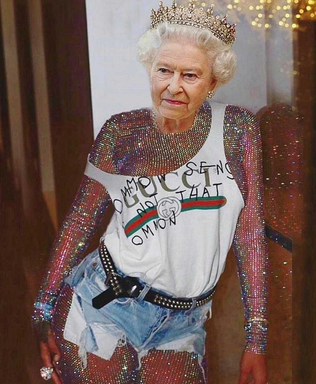 Królowa Elżbieta w kultowych stylizacjach Rihanny