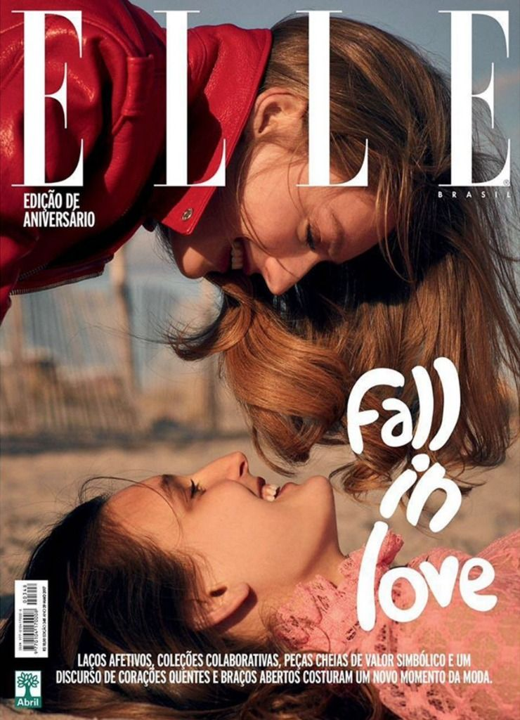 """Brazylia walczy z homoseksualizmem, a tamtejsze """"Elle"""" umieszcza na okładce… zakochane modelki"""