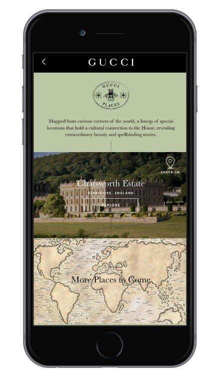 Gucci zaprezentowało podróżniczą aplikację, która zachwyca