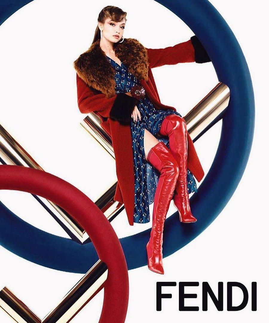 Gigi Hadid i Kendall Jenner po raz kolejny w kampanii Fendi
