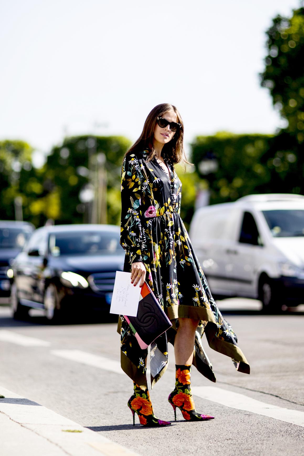 Street style: wzorzyste sukienki