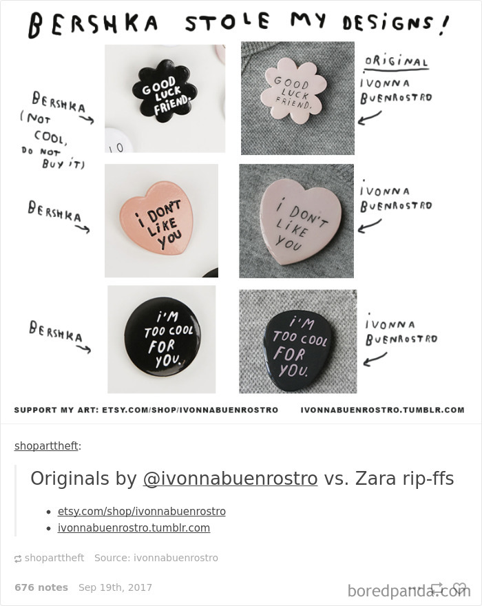 Zara, Forever 21, Disney… Te marki ukradły prace znanych artystów!