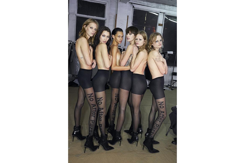 #WANGSQUAD  topless w jesiennej kampanii Alexandra Wanga