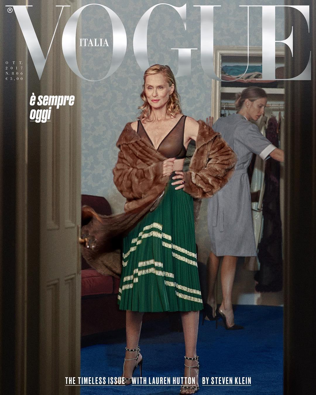 """Włoski """"Vogue"""" w całości poświęcony dojrzałym kobietom. Na okładce Lauren Hutton"""