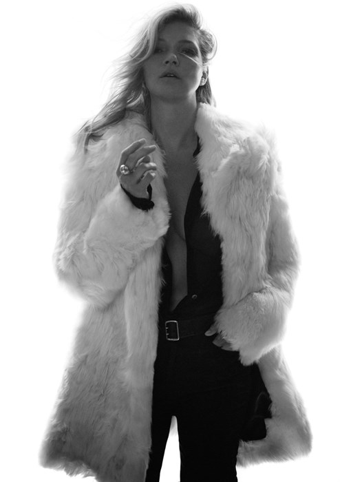 Kate Moss nową twarzą Saint Laurent