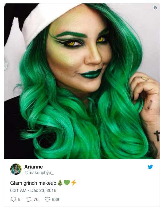 Bohaterem tegorocznego makijażu świątecznego został …Grinch
