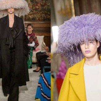 Nakrycia głowy nie z tej ziemi na pokazie Valentino haute couture wiosna-lato 2018