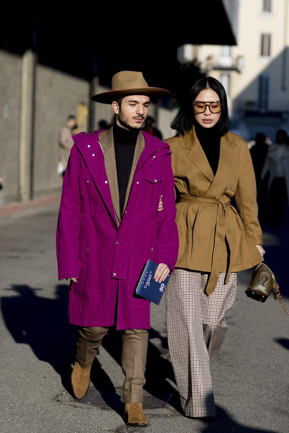 Streetstyle: męskie tygodnie mody jesień-zima 2018