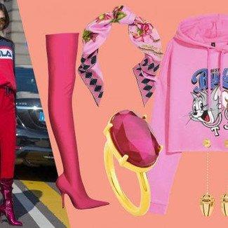Fashion Street: odtwarzamy stylizację w intensywnym różu