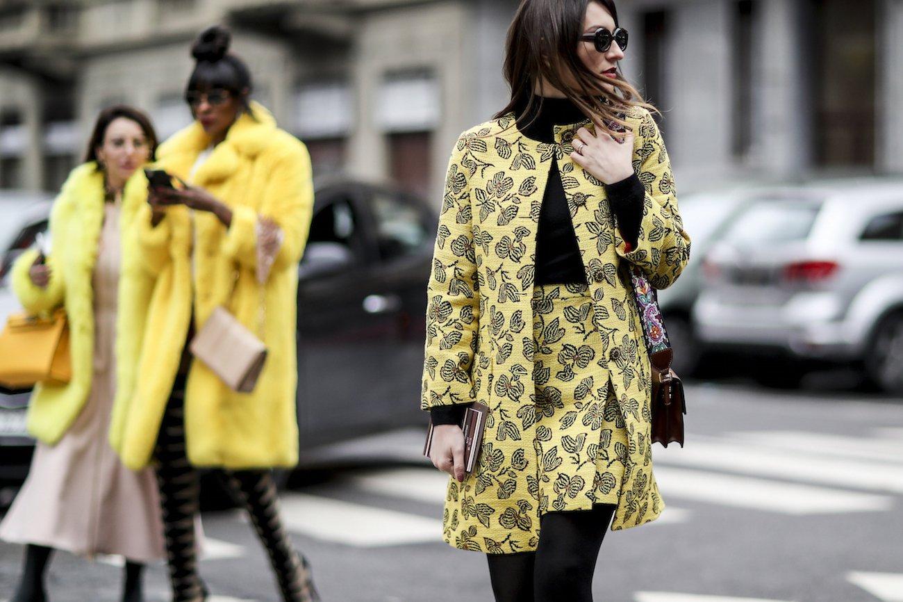 Streetstyle z tygodnia mody w Mediolanie