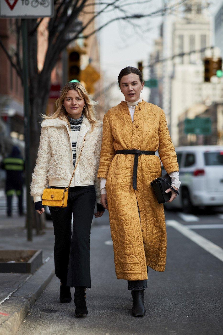 Streetstyle podczas nowojorskiego tygodnia mody jesień-zima 2018