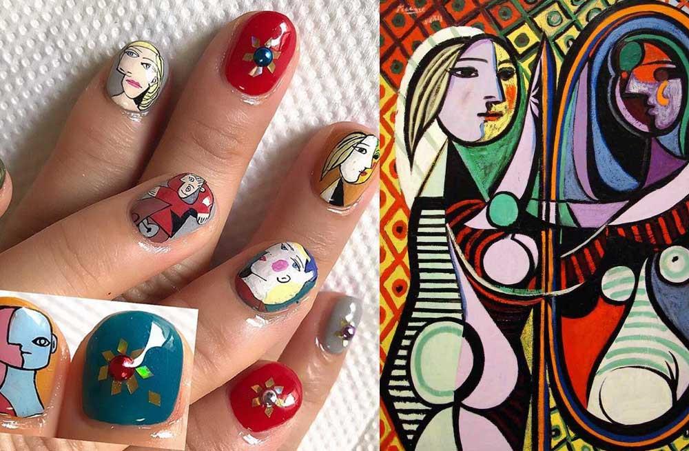 Obrazy Picassa na paznokciach – nowy trend na Instagramie