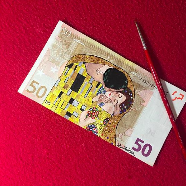 Banknoty jak malowane, czyli działa sztuki na pieniądzach!