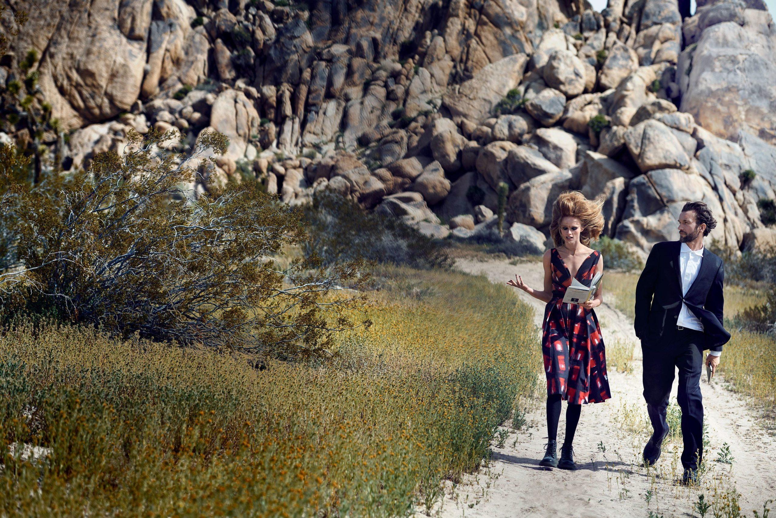 Tomasz Kot wsesji zdjęciowej doamerykańskiego Vogue'a